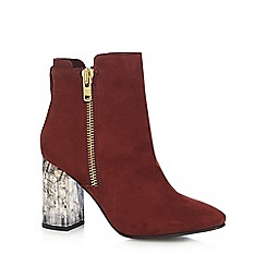 Faith - Dark red 'Boston' high ankle boots
