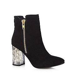 Faith - Black 'Boston' high ankle boots