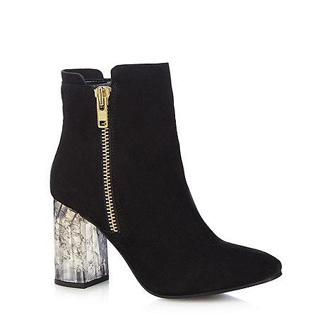 Faith - Black +Boston+ high ankle boots