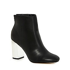 Faith - Black 'Babe' high ankle boots