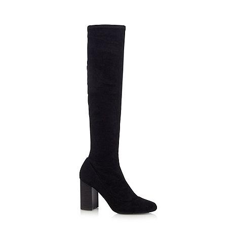 faith black molly knee high boots debenhams