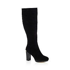 Faith - Black 'Miranda' suede knee high boots