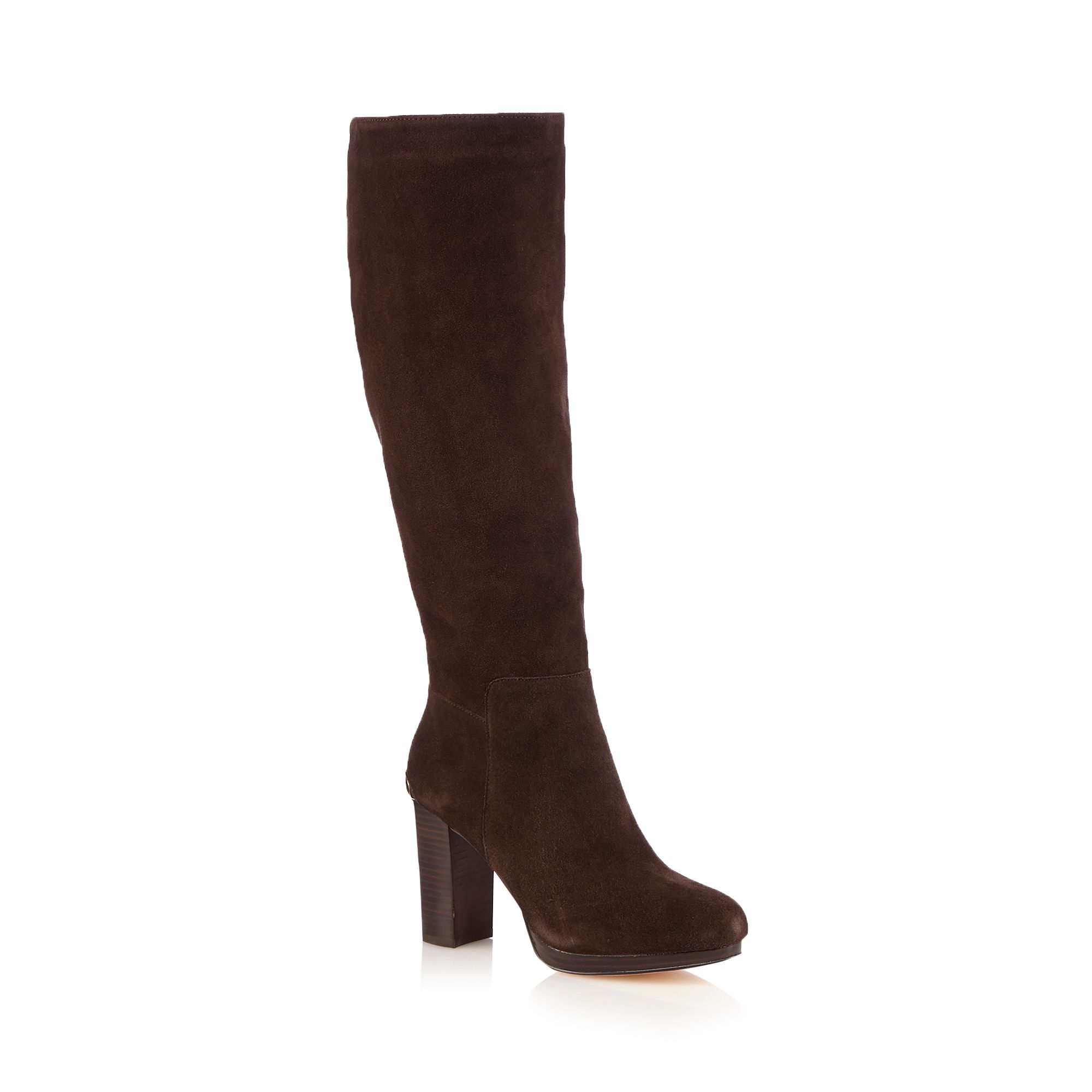faith womens brown miranda suede knee high boots from