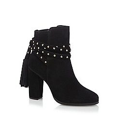 Faith - Black suede 'Bethany' high ankle boots