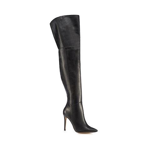 Faith - Black +Mindy+ over the knee boots