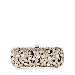 Faith - Gold 'Fiona' jewelled clutch bag