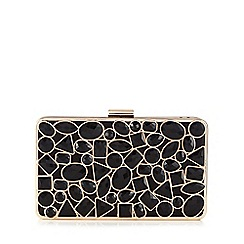 Faith - Black 'Farrah' statement clutch bag
