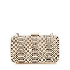 Faith - Gold 'Francesca' clutch bag