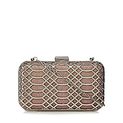 Faith - Silver 'Francesca' clutch bag
