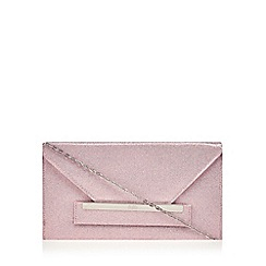 Faith - Pink glitter envelope clutch bag