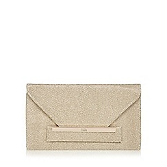 Faith - Gold glitter envelope clutch bag