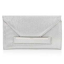 Faith - Silver glitter envelope clutch bag