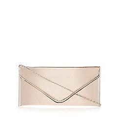 Faith - Rose gold mirrored envelope clutch bag