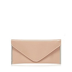 Faith - Pink patent 'Promise' envelope clutch bag