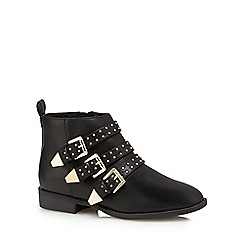 Faith - Black 'Brixton' studded ankle boots
