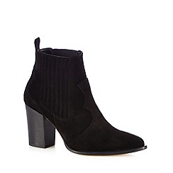 Faith - Black 'Blossom' leather ankle boots