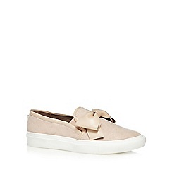 Faith - Nude 'Kris' bow slip-on trainers