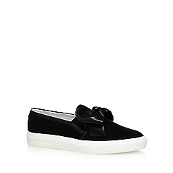 Faith - Black 'Kris' bow slip-on trainers