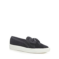 Faith - Black bow appliqu  slip-on shoes