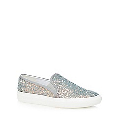 Faith - Light blue glitter 'Kendall' slip on trainers