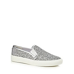 Faith - Silver glittery 'Kendall' slip on trainers