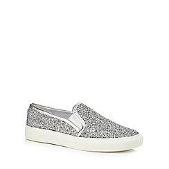 Faith - Silver glittery 'Kendall' slip on trainers