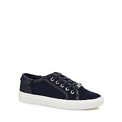 Faith - Navy suedette 'Kim' trainers
