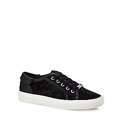 Faith - Black suedette 'Kim' trainers