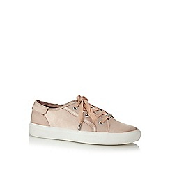 Faith - Light pink satin 'Kim' trainers