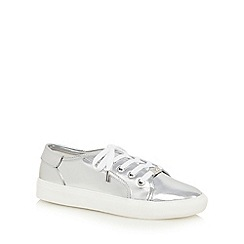 Faith - Silver 'Kim' patent trainers