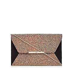 Faith - Black mermaid glitter envelope clutch