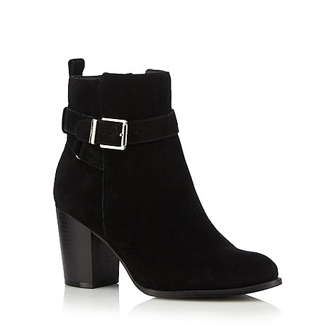 Faith - Black suede +Wintana+ high heel wide fit ankle boots