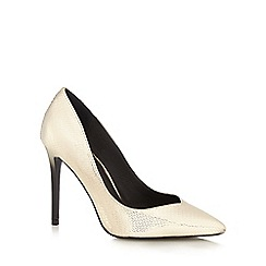 Faith - Gold 'Courtney' high stiletto heel pointed shoes