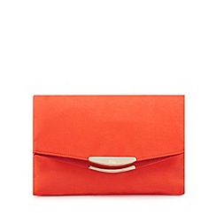 Faith - Orange 'Polly' oversized clutch bag