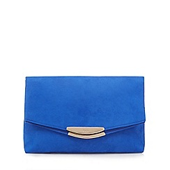 Faith - Bright blue 'Polly' oversized clutch bag