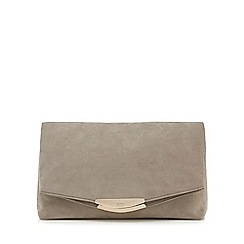 Faith - Grey 'Polly' oversized clutch bag