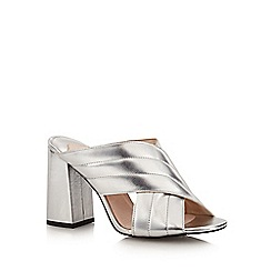 Faith - Silver 'Diana' high slip-on shoes