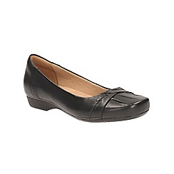 Clarks - Black Leather Blanche Fria Pump