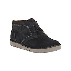 Clarks - Navy Suede Un Astin Lace Up Ankle Boot