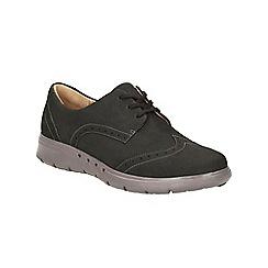 Clarks - Black Nubuck Un Hinton Lace Up Shoe