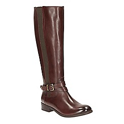 Clarks - Brown Leather 'Pita Vienna' knee high boots