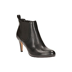 Clarks - Black Leather Carlita Quinn Ankle Boot