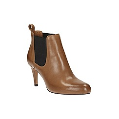 Clarks - Tan Leather Carlita Quinn Ankle Boot