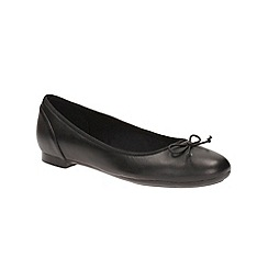 Clarks - Black Leather Couture Bloom Ballet Pump