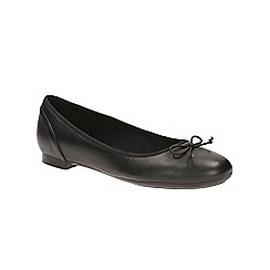 Clarks - Black patent 'Couture Bloom' slip-on shoes