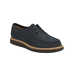 Clarks - Navy Nubuck Glick Bayview Lace Up Shoe