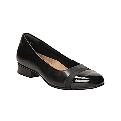 Clarks - Black Leather Keesha Rosa Heeled Pump