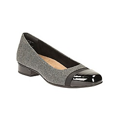 Clarks - Grey Fabric Keesha Rosa Heeled Pump