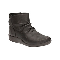 Clarks - Black Leather Sillian Chell Ankle Boot