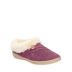 Clarks - Berry Suede Eskimo Snow Slip On Slippers